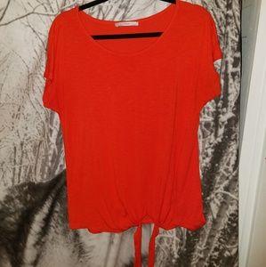 George Red Orange Blouse